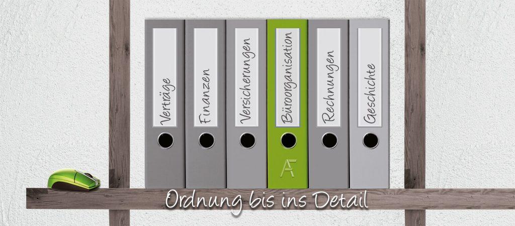 Büroorganisation für Privat und Firmen